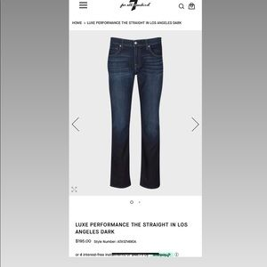7 for All Mankind Jeans Straight Leg size 30